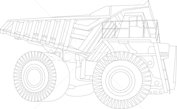 big truk contour Stock photo © pavelmidi