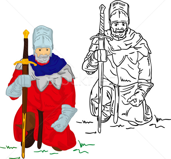 Stock photo: Knight with scimitar