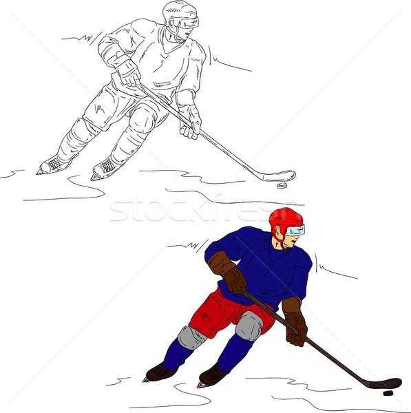 Vector aislado deporte pintura hielo Foto stock © pavelmidi