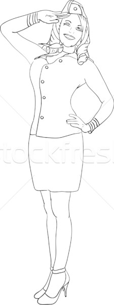 air hostess Stock photo © pavelmidi