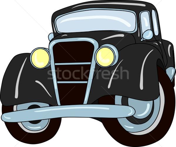 Stary samochód wektora odizolowany samochodu projektu sztuki Zdjęcia stock © pavelmidi