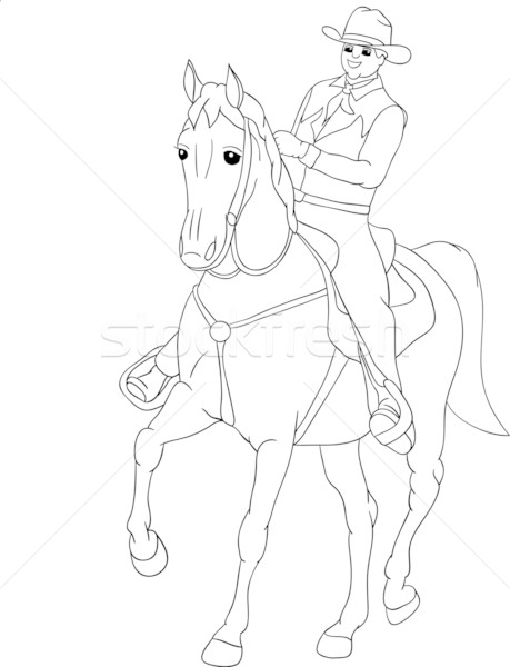 rider western Stock photo © pavelmidi
