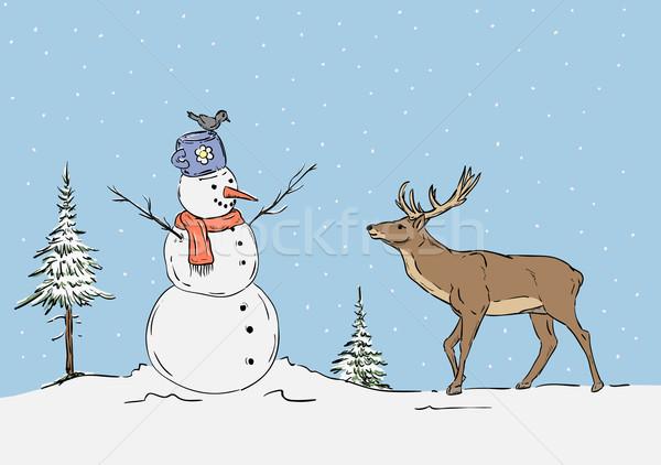 snowman Stock photo © pavelmidi