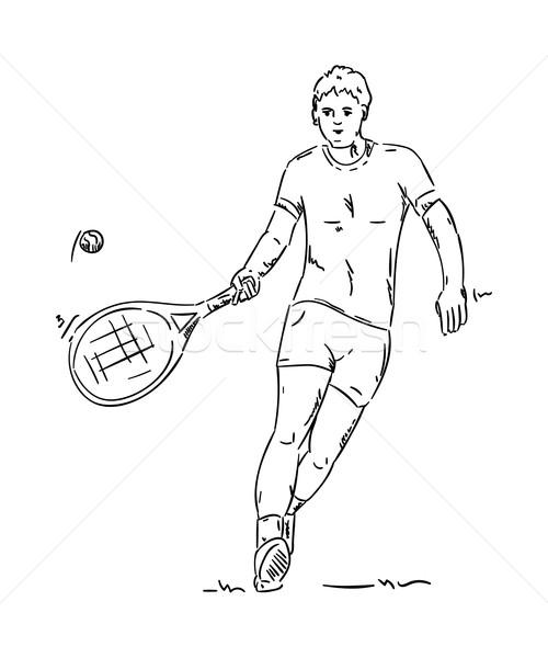 tennis player Stock photo © pavelmidi
