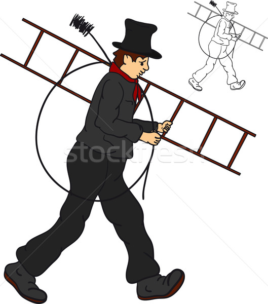 sweep goes to work Stock photo © pavelmidi