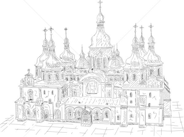 Saint Sophia Cathedral in Kiev, Ukraine Stock photo © pavelmidi