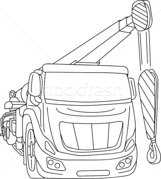 Grue vecteur camion mobiles isolé métal Photo stock © pavelmidi