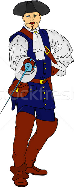 Stock photo: musketeer