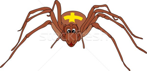 örümcek vektör mutlu yalıtılmış boya siyah Stok fotoğraf © pavelmidi
