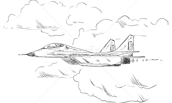 Combat aircraft  Stock photo © pavelmidi