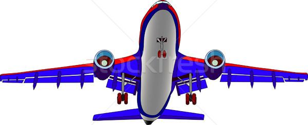 Vektor szín repülőgép izolált fehér művészet Stock fotó © pavelmidi