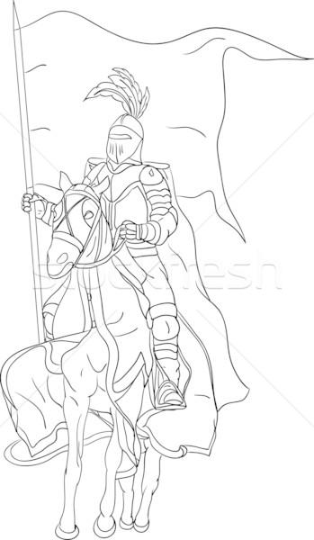 knight on horse Stock photo © pavelmidi