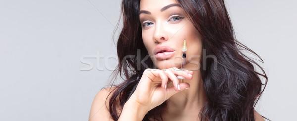 Portrait of attractive woman. Stock photo © PawelSierakowski