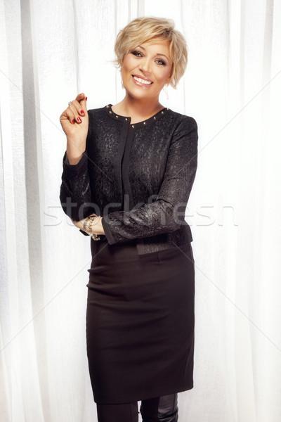 Pozytywny business woman uśmiechnięty biały coś Zdjęcia stock © PawelSierakowski