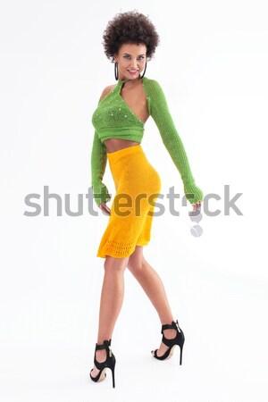 Modny kobieta stwarzające moda Fotografia Zdjęcia stock © PawelSierakowski
