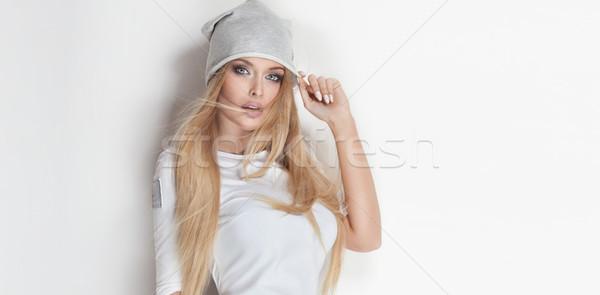 Portret atrakcyjny piękna młoda kobieta modny Zdjęcia stock © PawelSierakowski