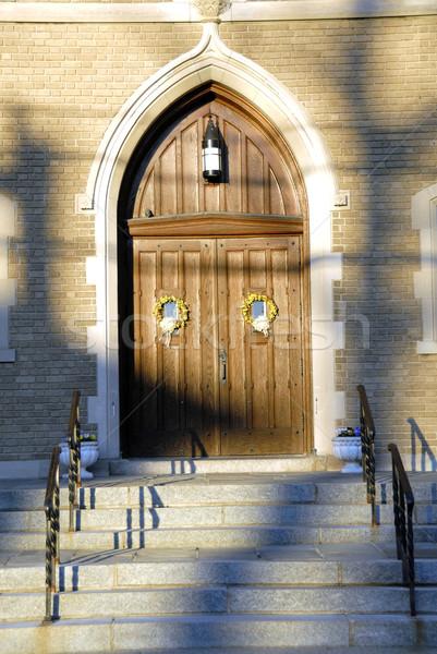 église porte belle été Photo stock © pazham
