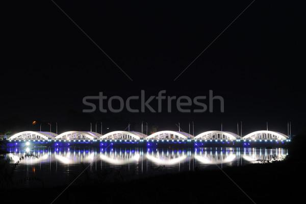 Most wygaśnięcia przestrzeni sylwetka wakacje nowego Zdjęcia stock © pazham