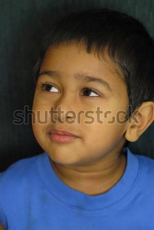 深刻 ハンサム インド 子供 見える 子 ストックフォト © pazham