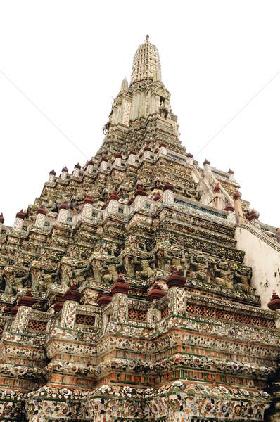 Stock fotó: Közelkép · részletek · templom · Thaiföld · víz · sziluett
