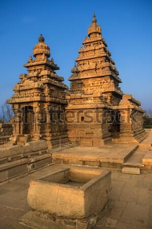 Wal tempel shiva kunst oranje Stockfoto © pazham