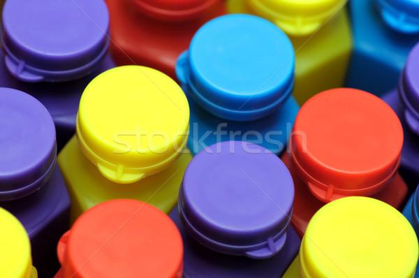 красочный фотография пузыря бутылок Сток-фото © pazham