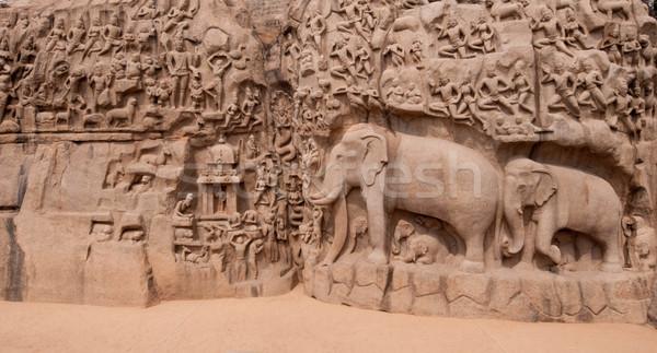 Uno antica architettonico meridionale India costruzione Foto d'archivio © pazham