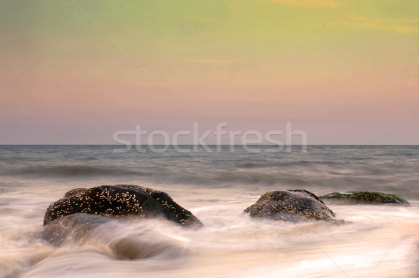 закат тропический пляж небе морем лет океана Сток-фото © pazham