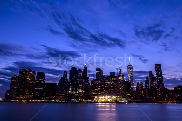Ny Skyline ciel panorama bureau monde Photo stock © pazham