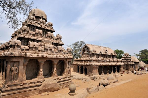 один древних архитектурный юг Индия здании Сток-фото © pazham