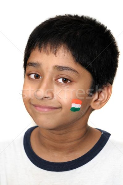 Visage peinture élégant indian Kid sourires Photo stock © pazham