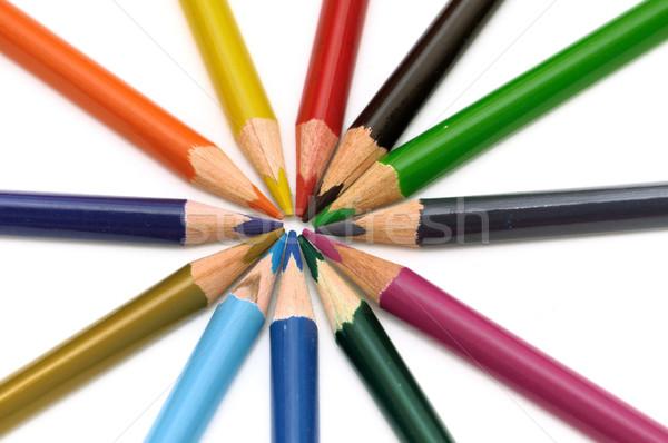 色 鉛筆 孤立した 白 オフィス 学校 ストックフォト © pazham
