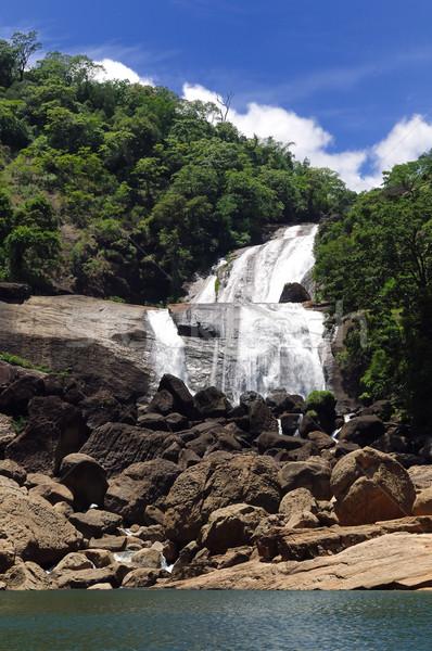 滝 水 滝 明るい 風景 プール ストックフォト © pazham