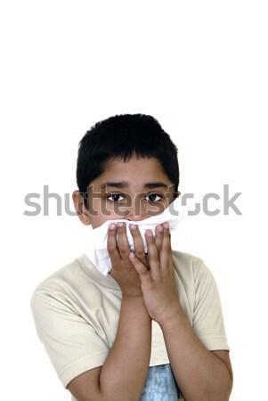 アレルギー ハンサム インド 子供 顔 子 ストックフォト © pazham