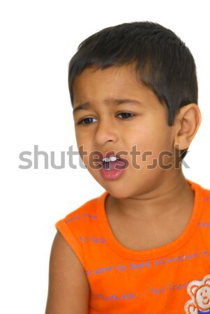 Portrait élégant Kid posant caméra enfant Photo stock © pazham