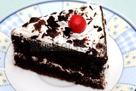 Gâteau pièce isolé lumière Retour sol Photo stock © pazham