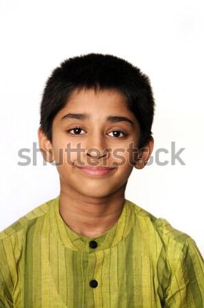 Stock fotó: Indiai · gyerek · jóképű · fiatal · férfi · izolált