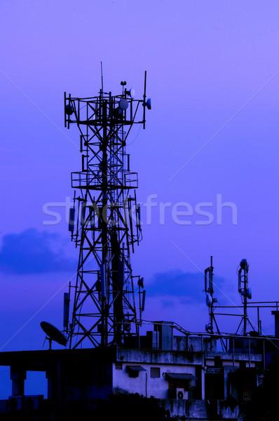塔 通信 金属 ネットワーク ストックフォト © pazham