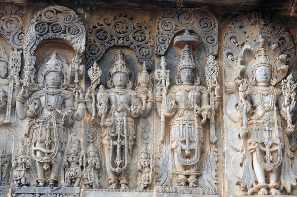 Ruines anciens indian temple texture art Photo stock © pazham