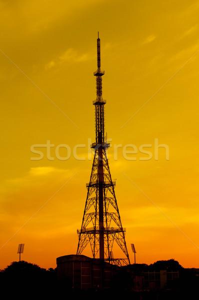 Communication technologie téléphone cadre domaine réseau Photo stock © pazham