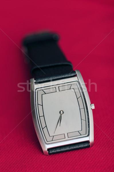 Armbanduhr isoliert rot Gesicht Männer Zeit Stock foto © pazham