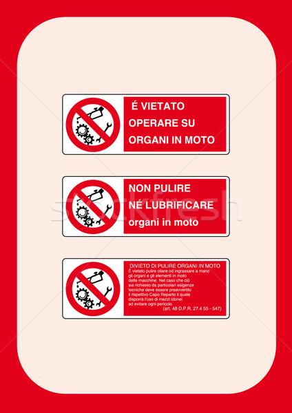 Kurumsal işaretleri yangın inşaat çalışmak Stok fotoğraf © pballphoto