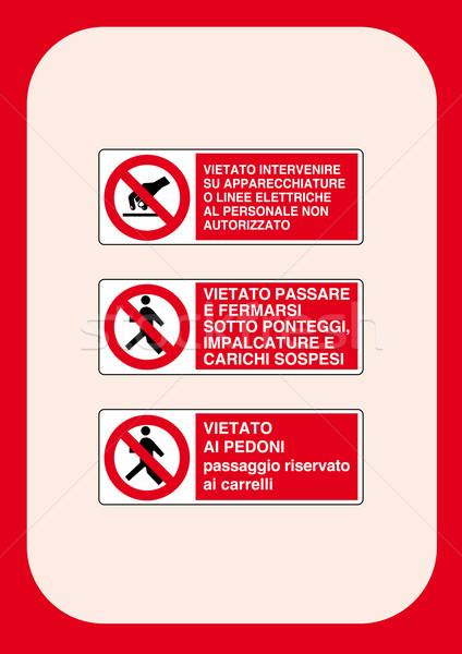 Corporate Prohibition Signs Series  Stock photo © pballphoto