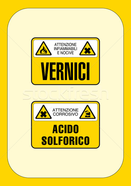 Corporate gevaar teken brand werk kruis brug Stockfoto © pballphoto