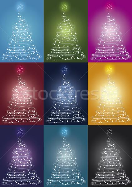 Stok fotoğraf: Noel · ışık · renk · kar · ışıklar · renkler