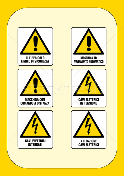 Corporate danger sign series  Stock photo © pballphoto