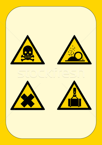 Corporate danger sign series  Stock photo © pballphoto