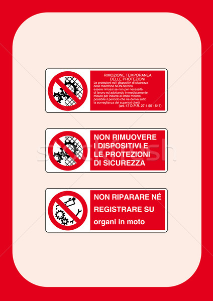Corporate Prohibition Signs Series  Stock photo © pballphoto
