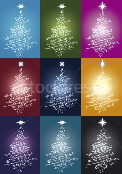 Noel ışık renk kar ışıklar renkler Stok fotoğraf © pballphoto
