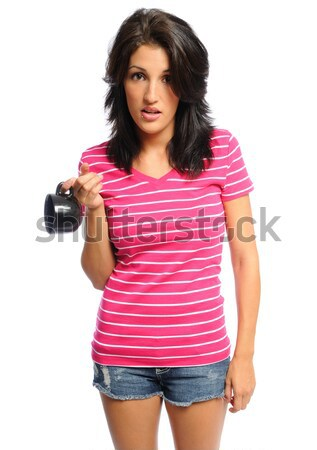 woman out of coffee Stock photo © pdimages